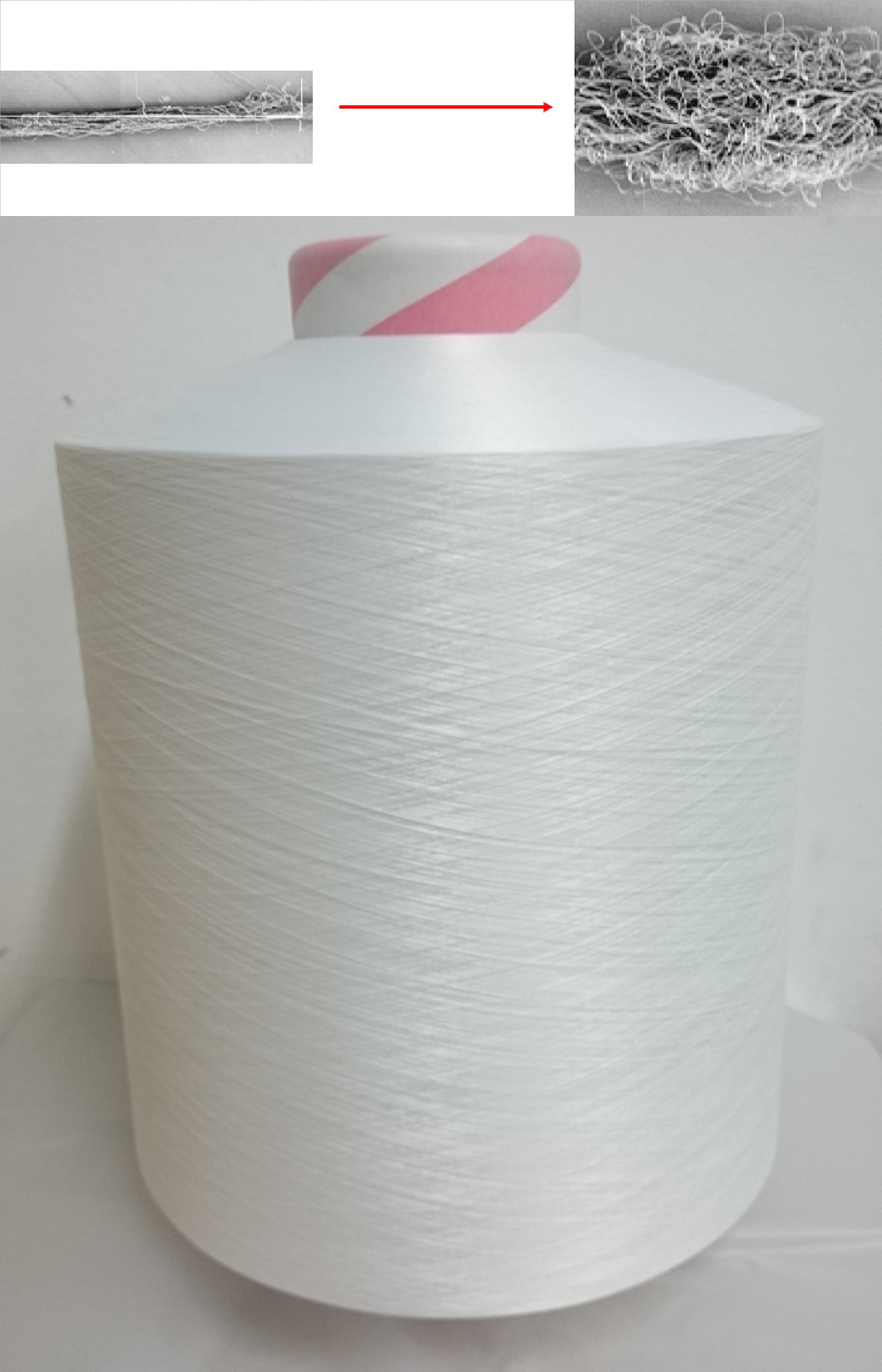 multi-filament fine denier differential shrinkage filament